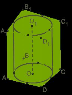 цилиндр вписанный в параллелепипед